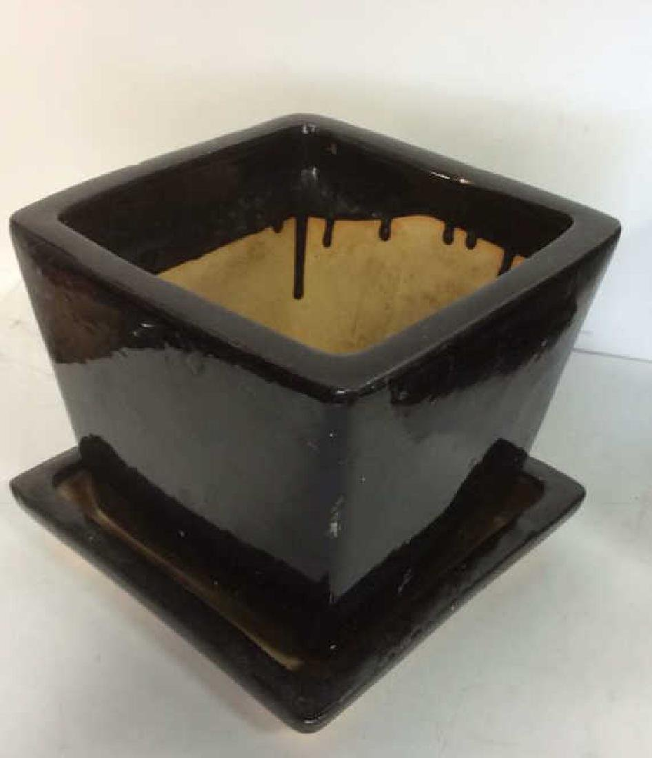 Lot 4 Ceramic Planters & Drainage Trays - 5
