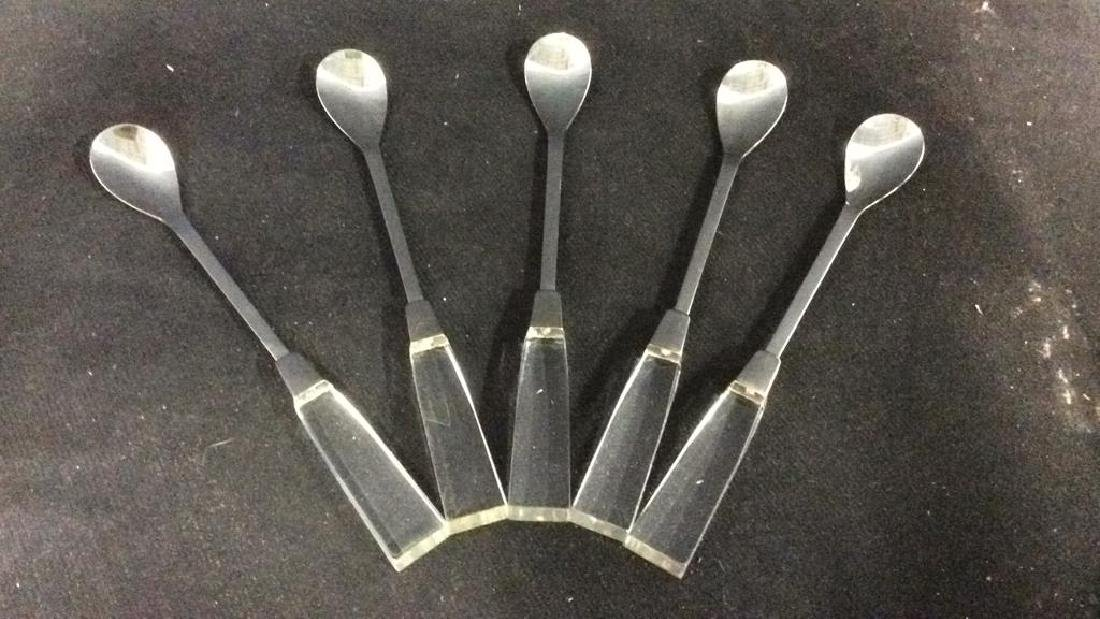 Lot 5 SUPREME CUTLERY Lucite Handled Spoons - 3