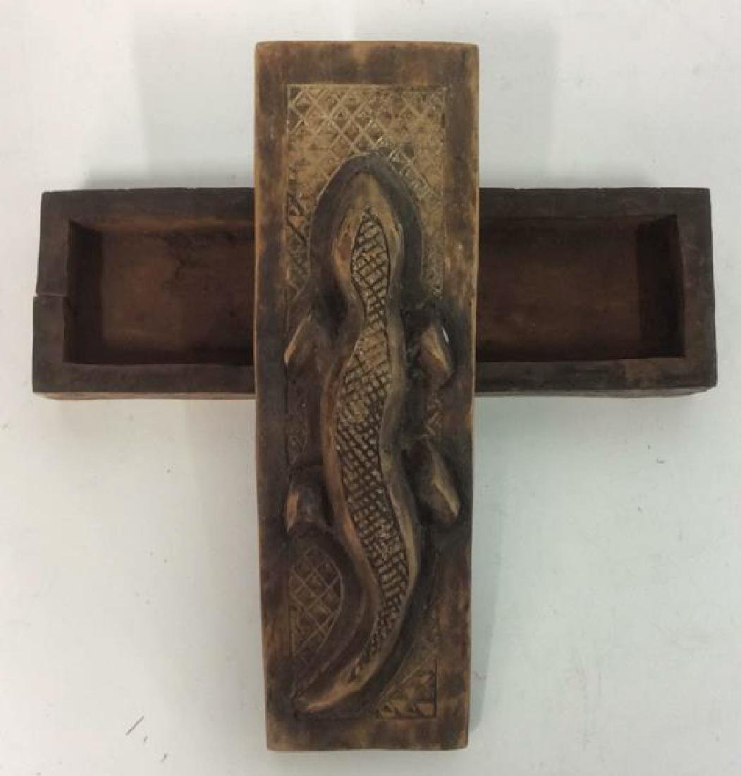 hand Crafted and Carved Wooden Trinket Box - 4