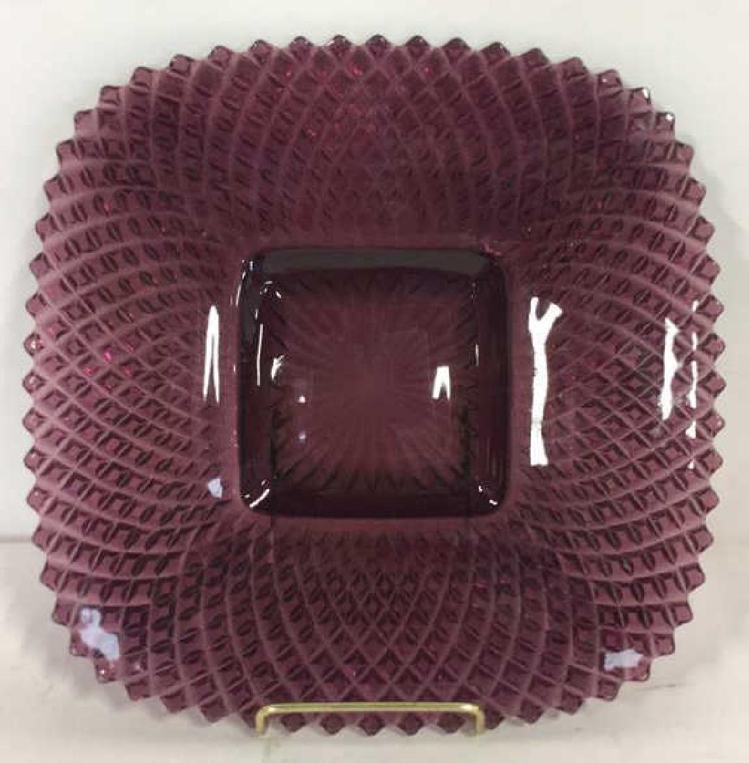 Purple Depression Glass Platter Tabletop - 2