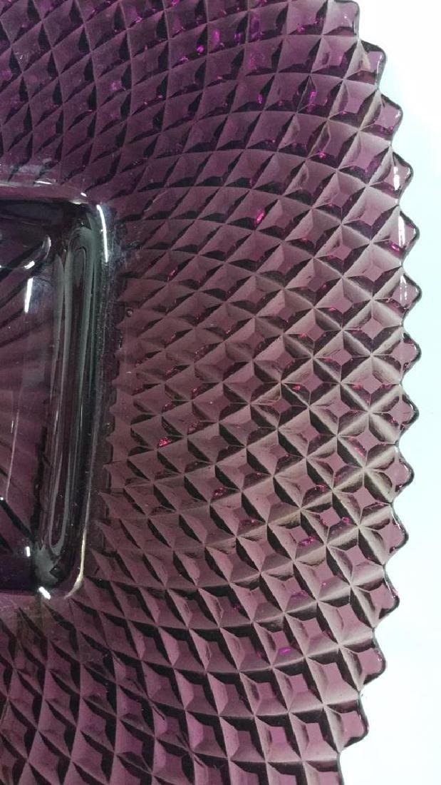 Purple Depression Glass Platter Tabletop - 5