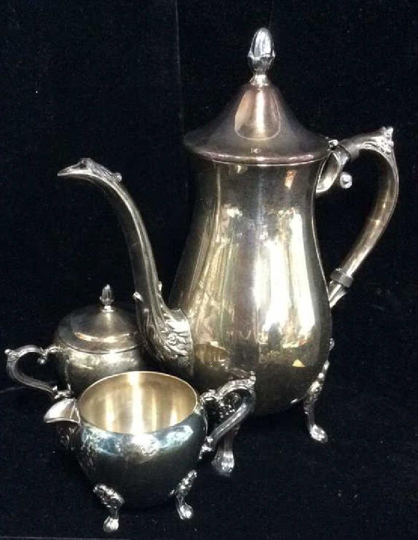 Lot 3 F.B.ROGERS SILVER CO. Silver Coffee Tea