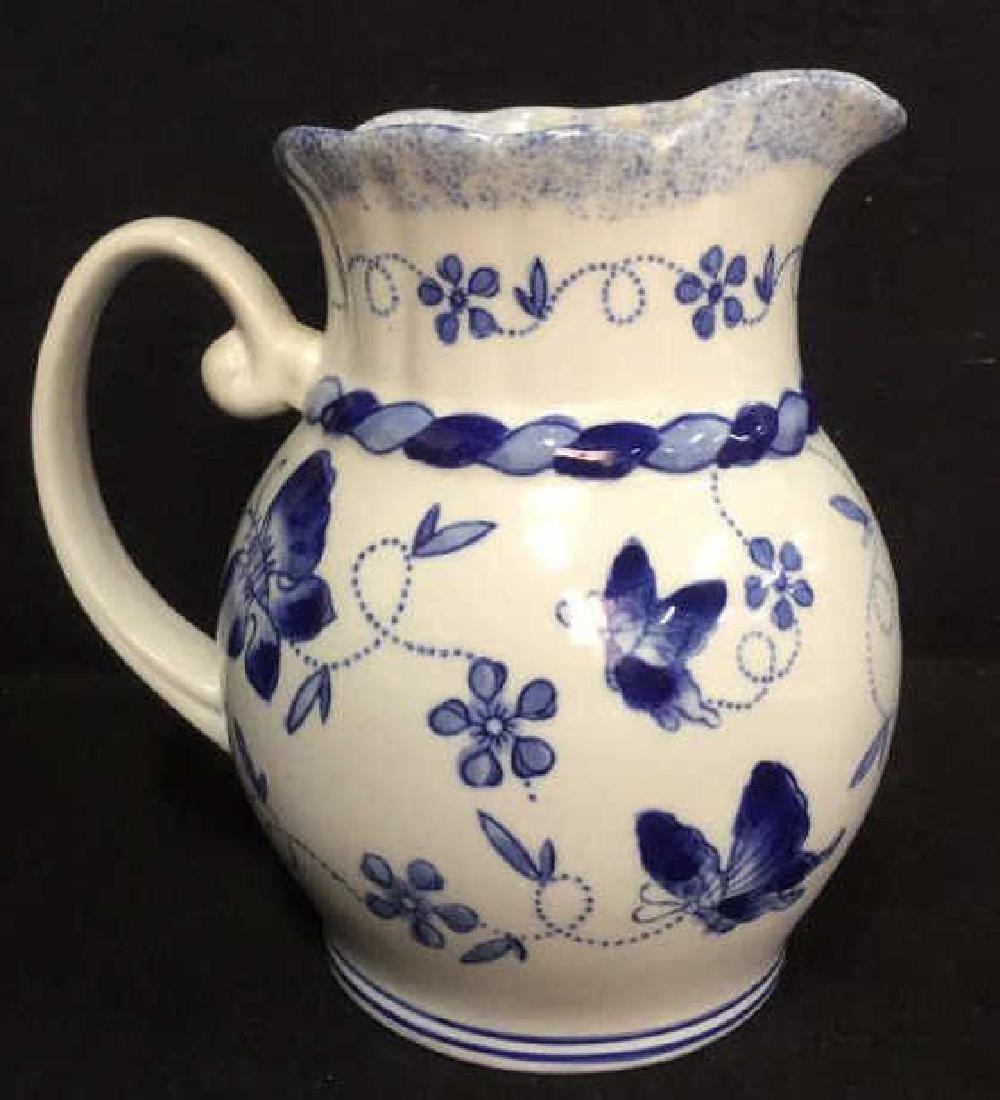 China Blue Ceramic Porcelain Pitcher