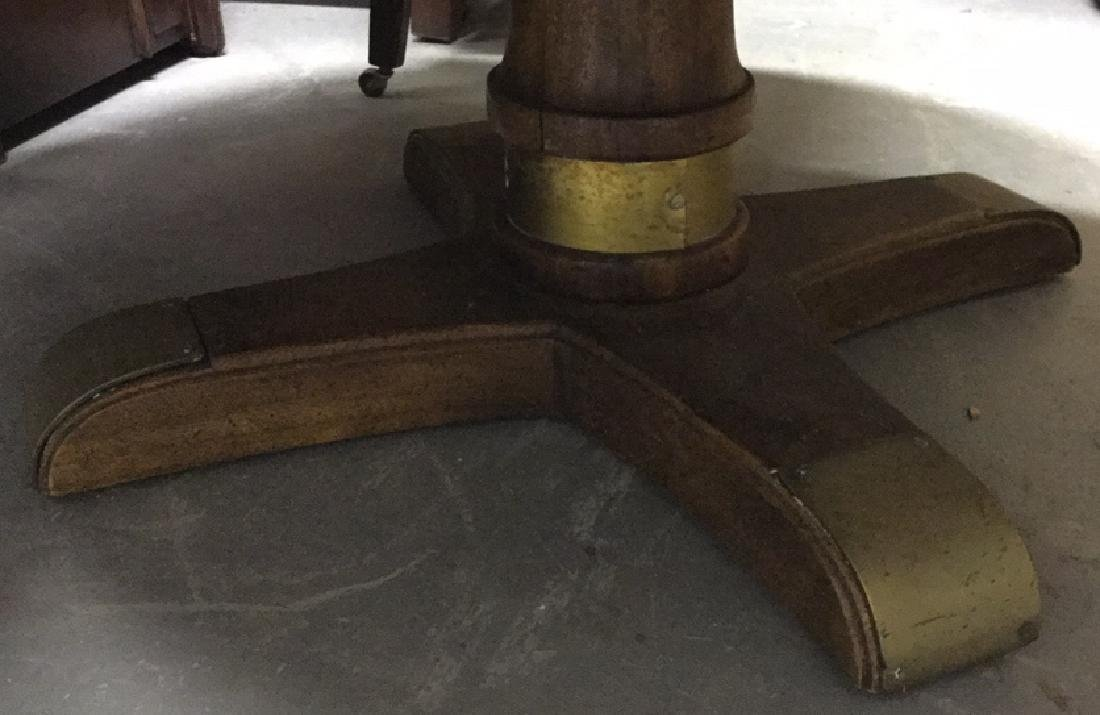 Rustic Circular Form Wood Coffee Table - 4