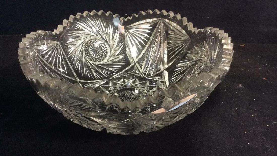 Intricately Cut Crystal Bowl