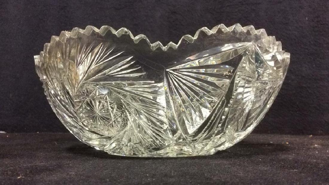 Intricately Cut Crystal Bowl - 2
