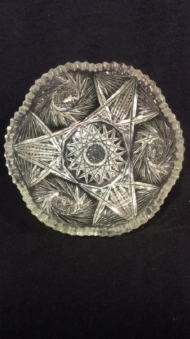 Intricately Cut Crystal Bowl - 5