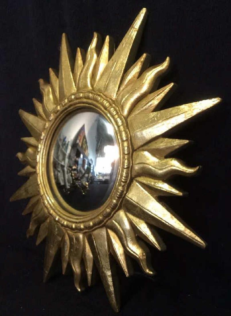 Gold Toned Sun Shaped Framed Mirror - 4