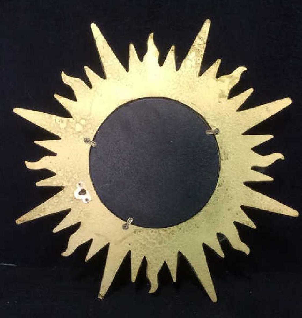 Gold Toned Sun Shaped Framed Mirror - 5