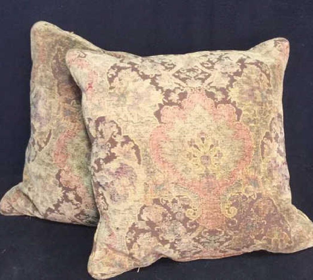 Pair Of Down Throw Pillows