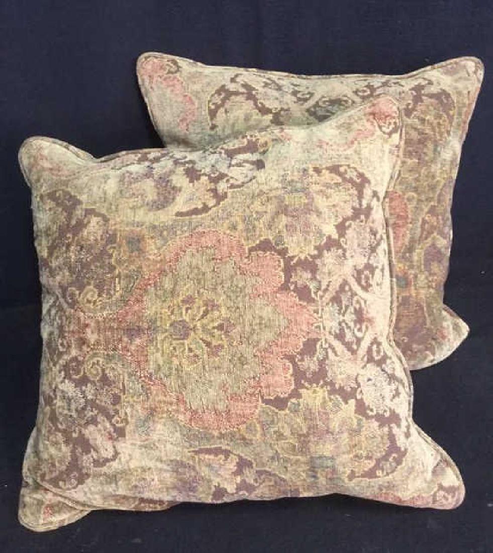 Pair Of Down Throw Pillows - 8