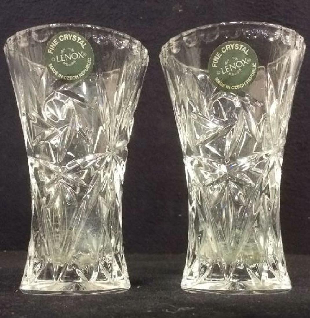 Pair LENOX FINE CRYSTAL Vases
