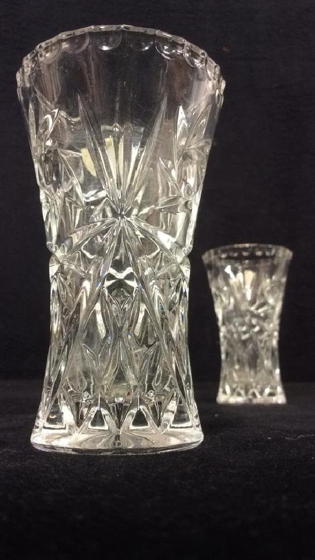 Pair LENOX FINE CRYSTAL Vases - 3