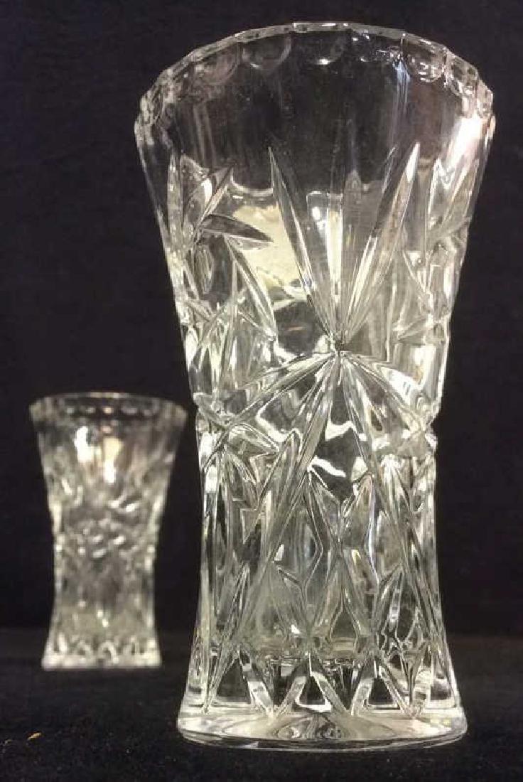 Pair LENOX FINE CRYSTAL Vases - 4
