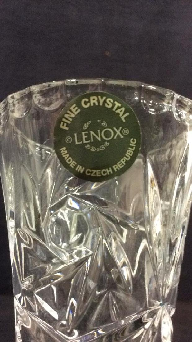 Pair LENOX FINE CRYSTAL Vases - 5