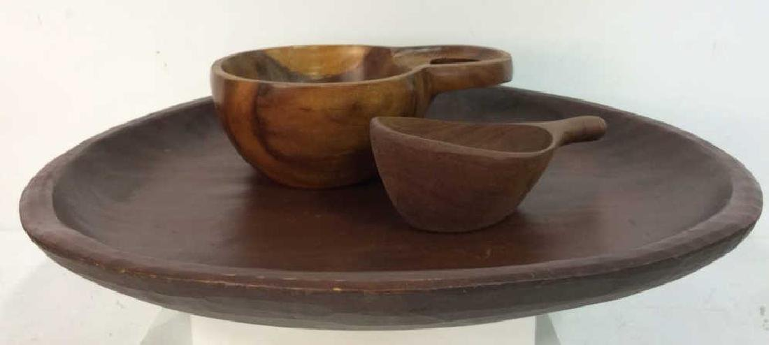 Lot 3 Wooden Kitchen Accessories Tabletop
