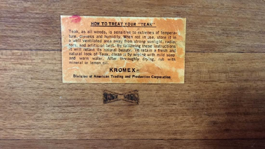 Lot 3 KROMEX&KNOBLER Teak Wood Table Top Acc - 5