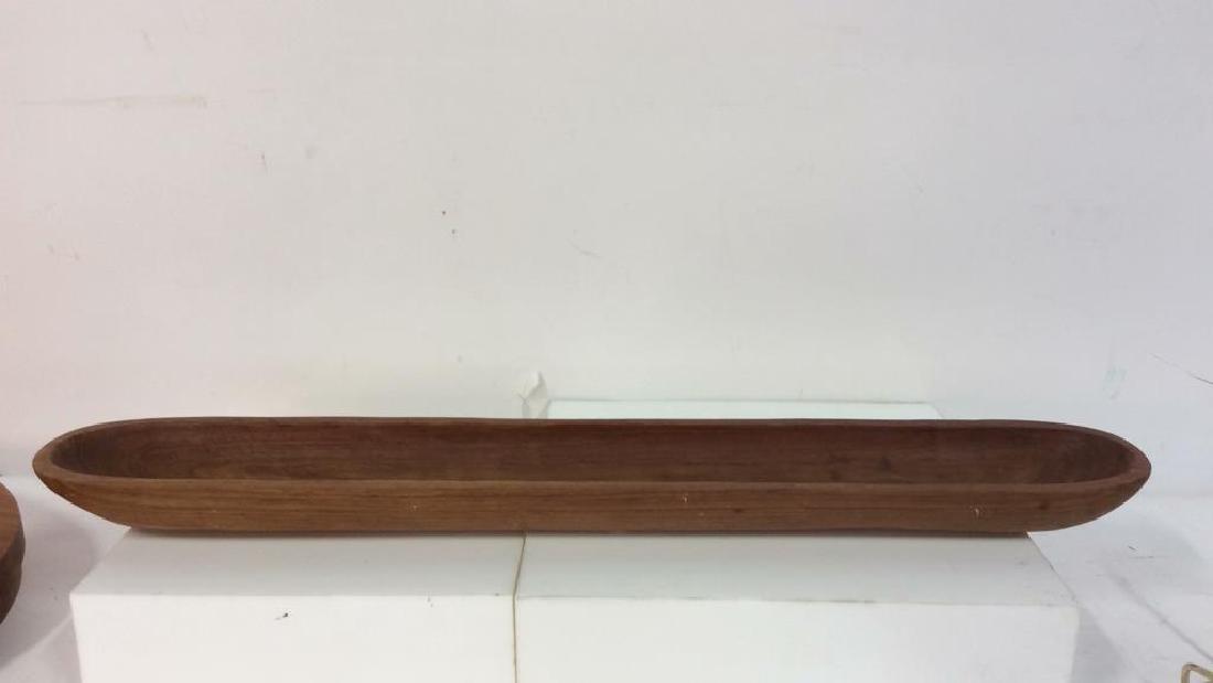 Lot 3 KROMEX&KNOBLER Teak Wood Table Top Acc - 6