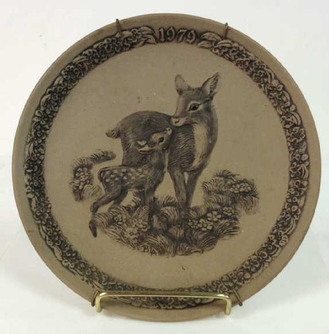Pair POOLE Collectible Animal Featured Plates - 7