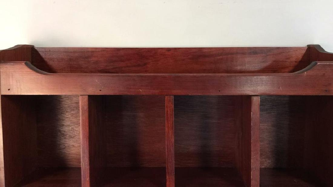 Reddish Toned Wooden Storage Wall Cubby - 2