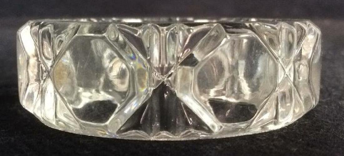 Lot 6 Cut Crystal Napkin Rings & More - 3