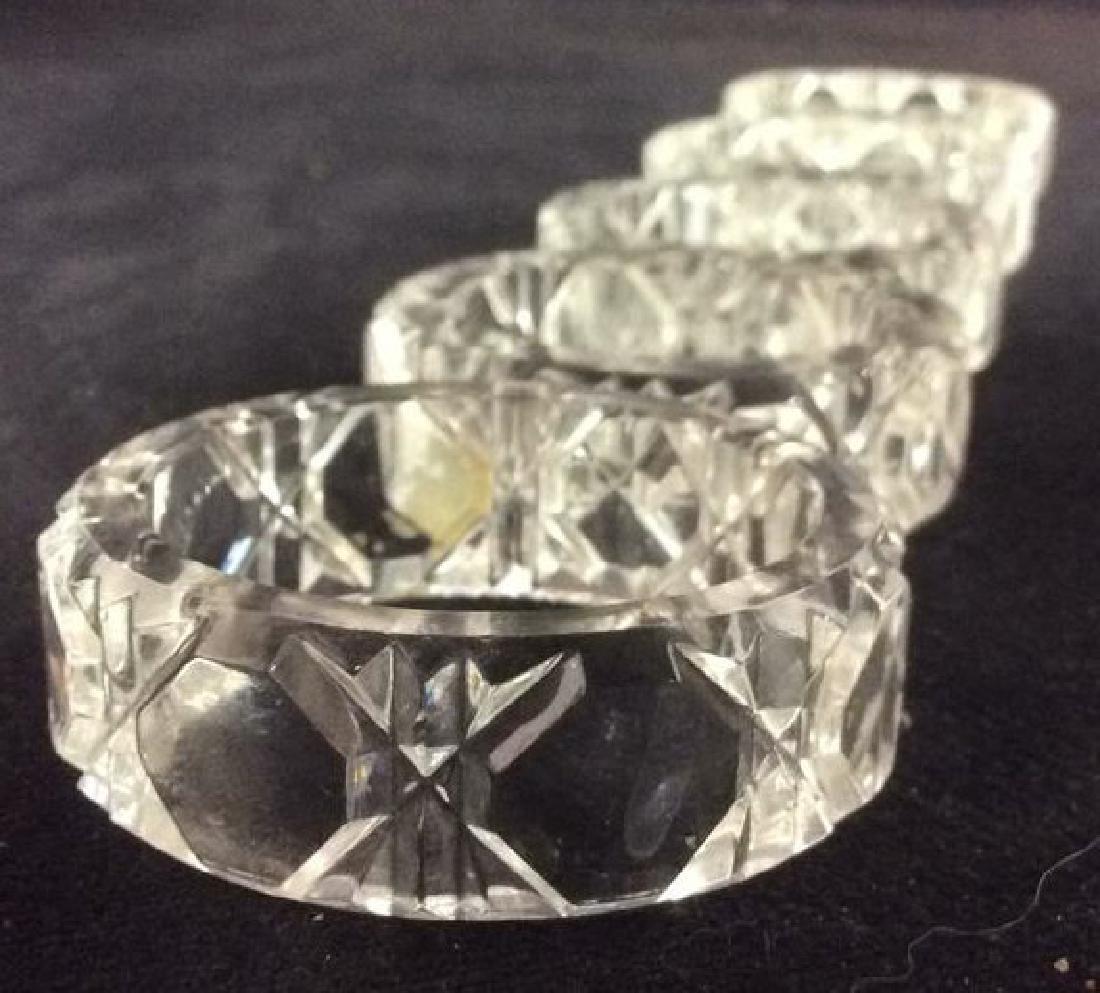 Lot 6 Cut Crystal Napkin Rings & More - 5