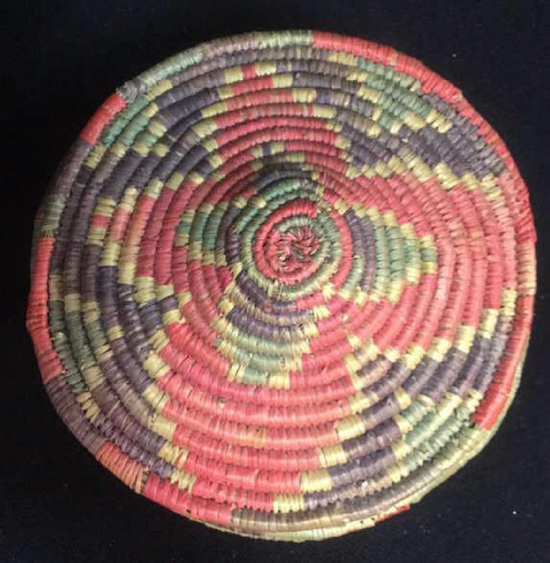 Lot 4 Colorful Woven Straw BasketsCrafts - 4
