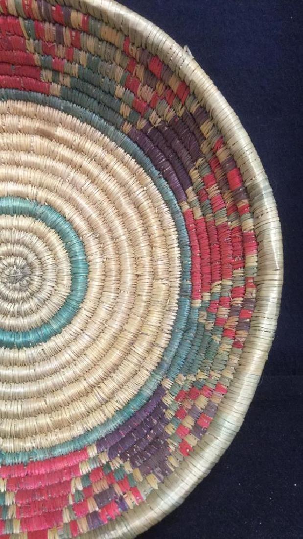Lot 4 Colorful Woven Straw BasketsCrafts - 8