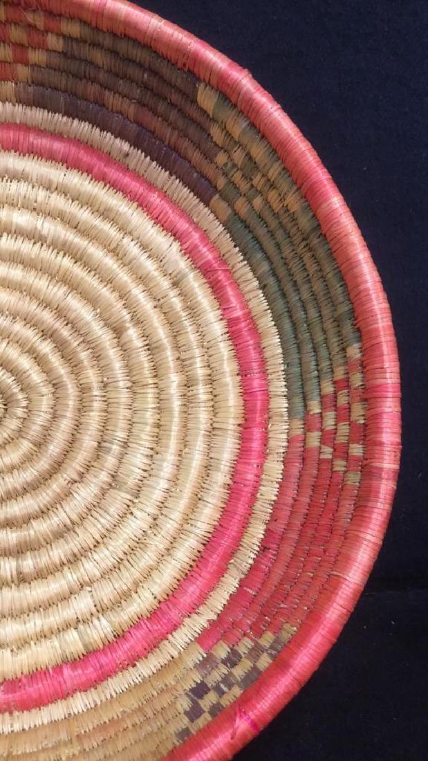 Lot 4 Colorful Woven Straw BasketsCrafts - 9