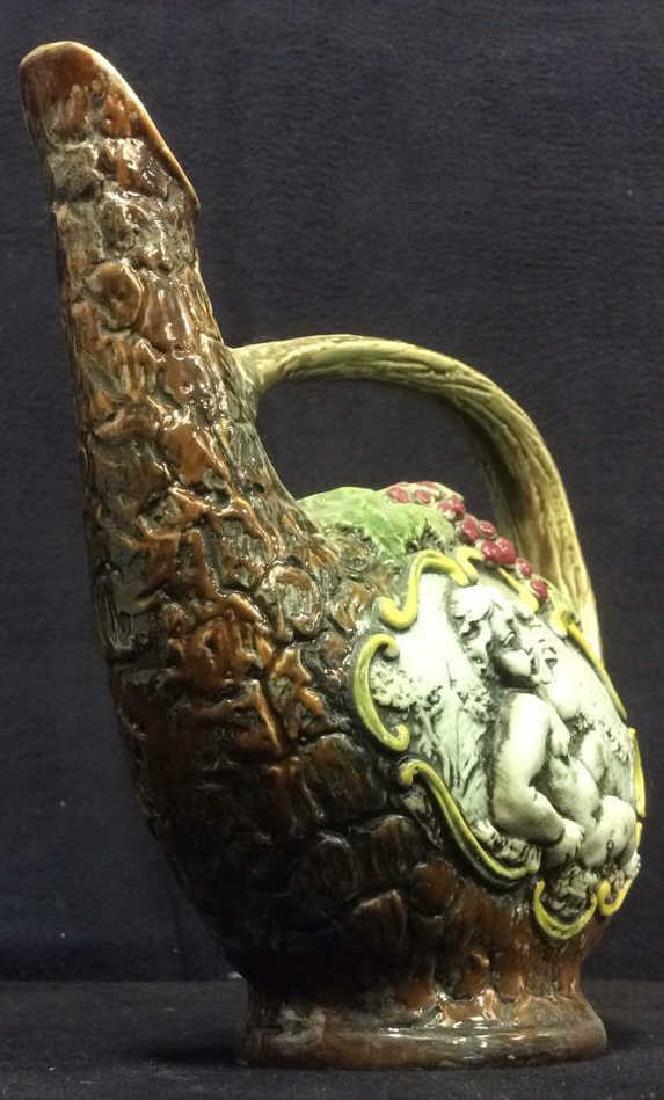 Hand Painted Italian Ceramic Wine Jug - 2