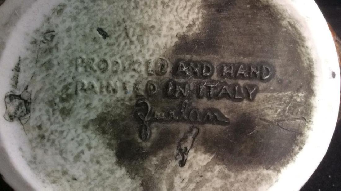 Hand Painted Italian Ceramic Wine Jug - 5