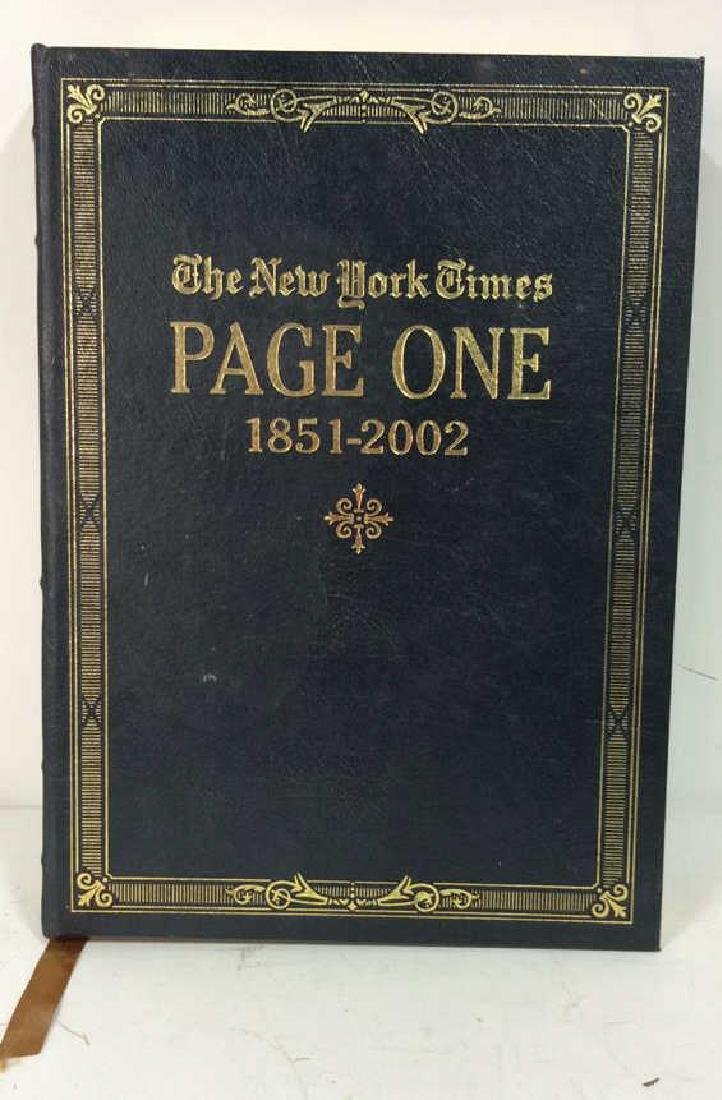 The New York Times Page One Book