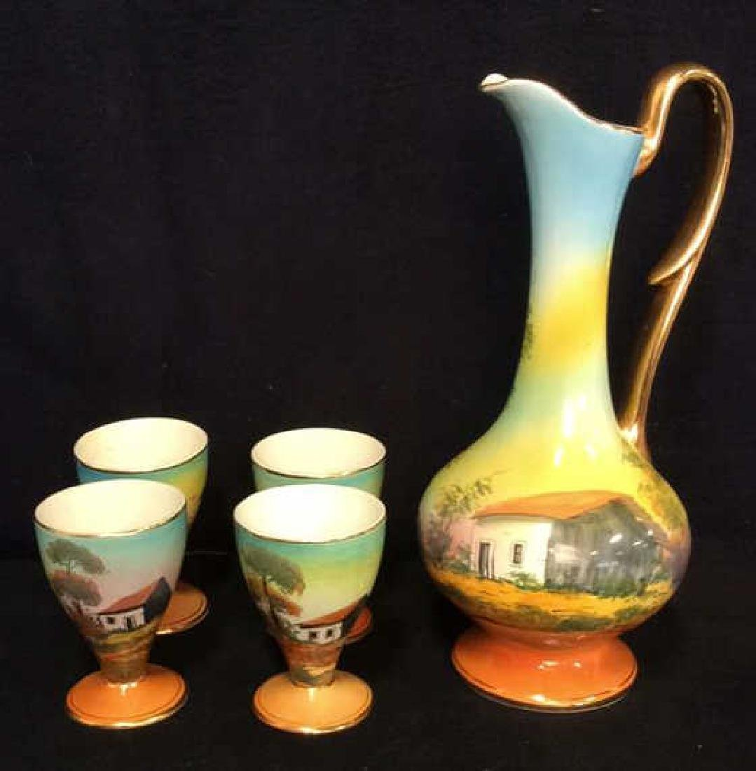 Lot 5 LOUÇARTE Pitcher W Drinking Goblets