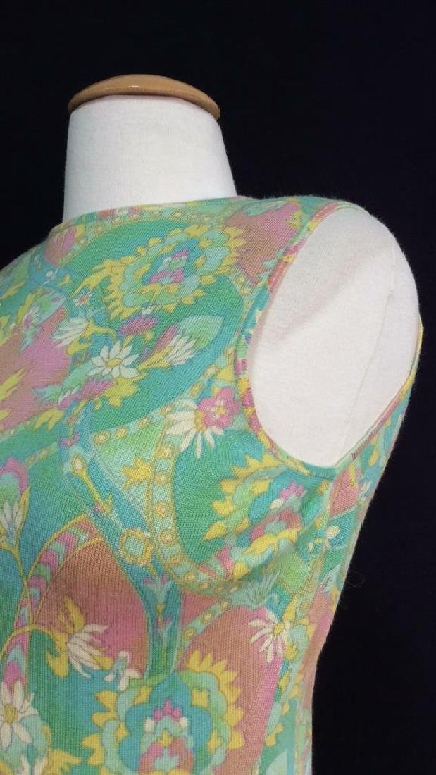 LEONARD FULLY FASHIONED Vintage FrenchFloral Dress