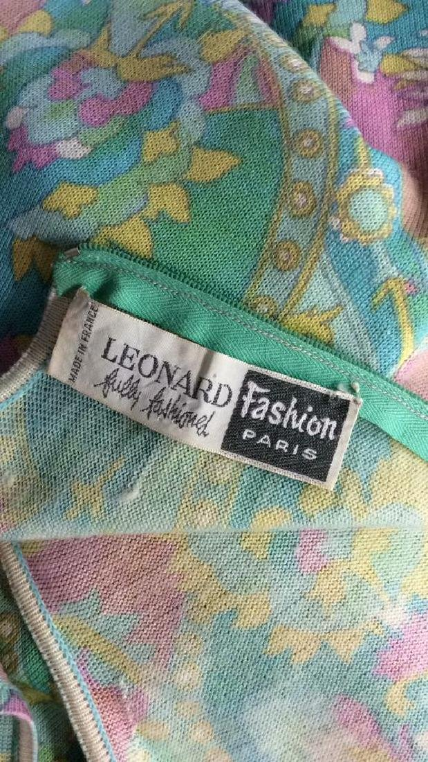 LEONARD FULLY FASHIONED Vintage FrenchFloral Dress - 9