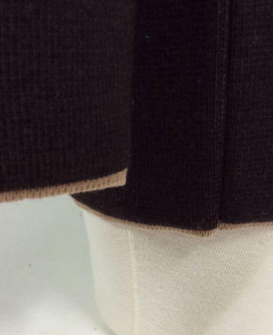 BARNEYS Merino Wool Brown Button Up Sweater - 5