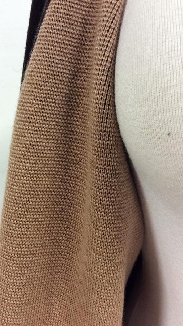 BARNEYS Merino Wool Brown Button Up Sweater - 8