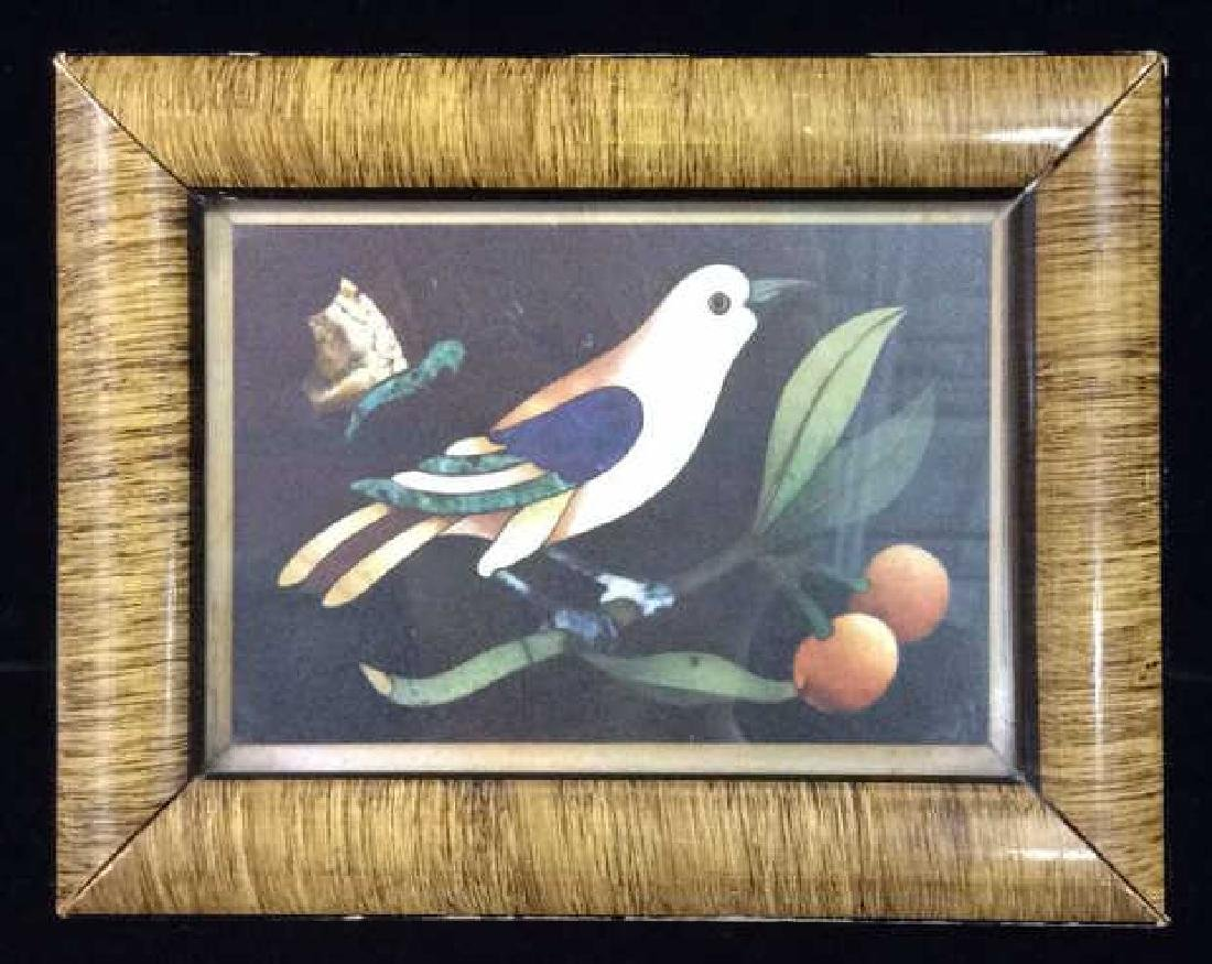 Framed Art Print Bird on Branch