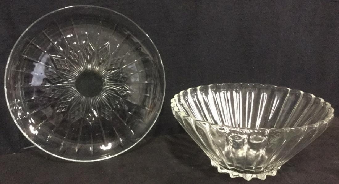 Lot 2 Vintage Depression Glass Serving Dishes