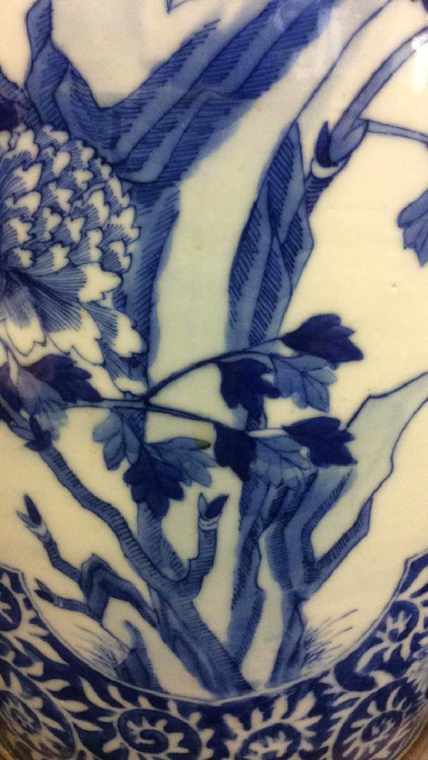 Asian Ceramic Porcelain Intricately Painted Lamp - 8