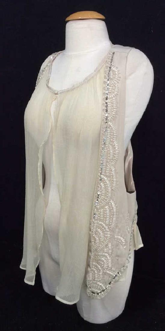RYU Vintage Beige Beaded Vest