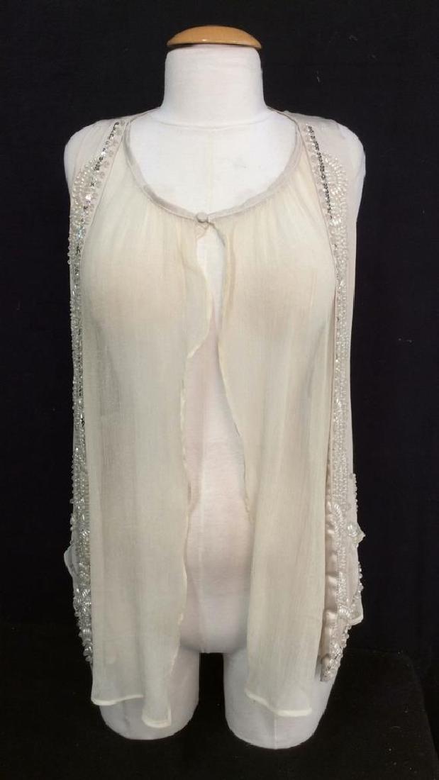 RYU Vintage Beige Beaded Vest - 2