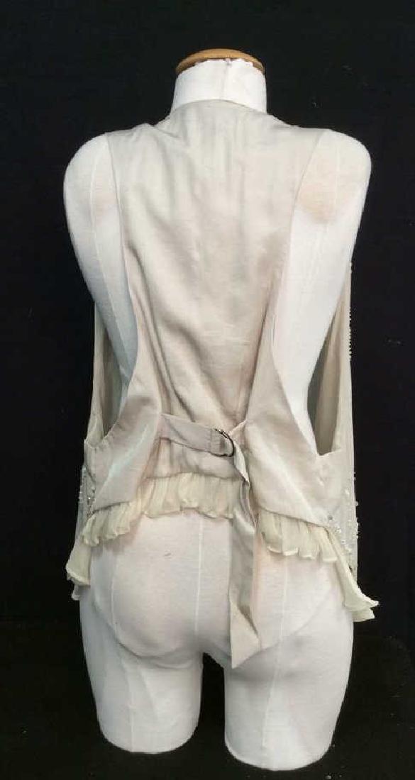 RYU Vintage Beige Beaded Vest - 5
