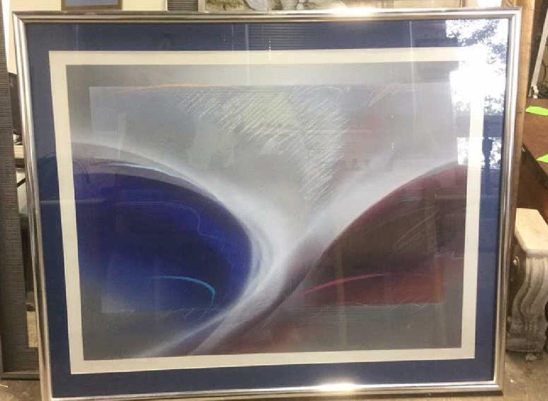 Abstract Signed Litho Refracting Dolphins