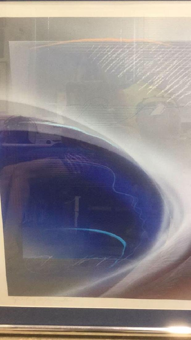 Abstract Signed Litho Refracting Dolphins - 3