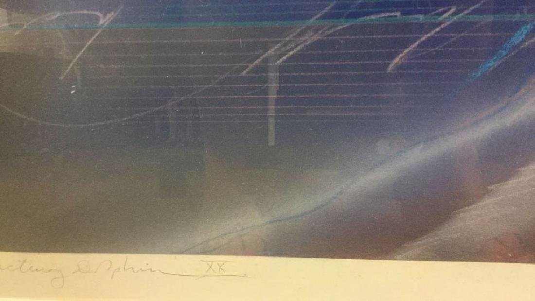 Abstract Signed Litho Refracting Dolphins - 7