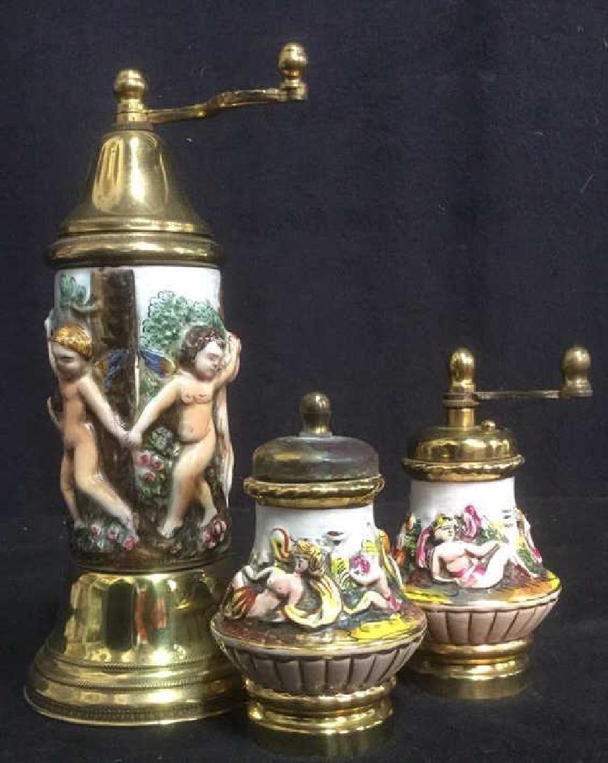 Group 3 Vintage Italian Capodimonte Shakers