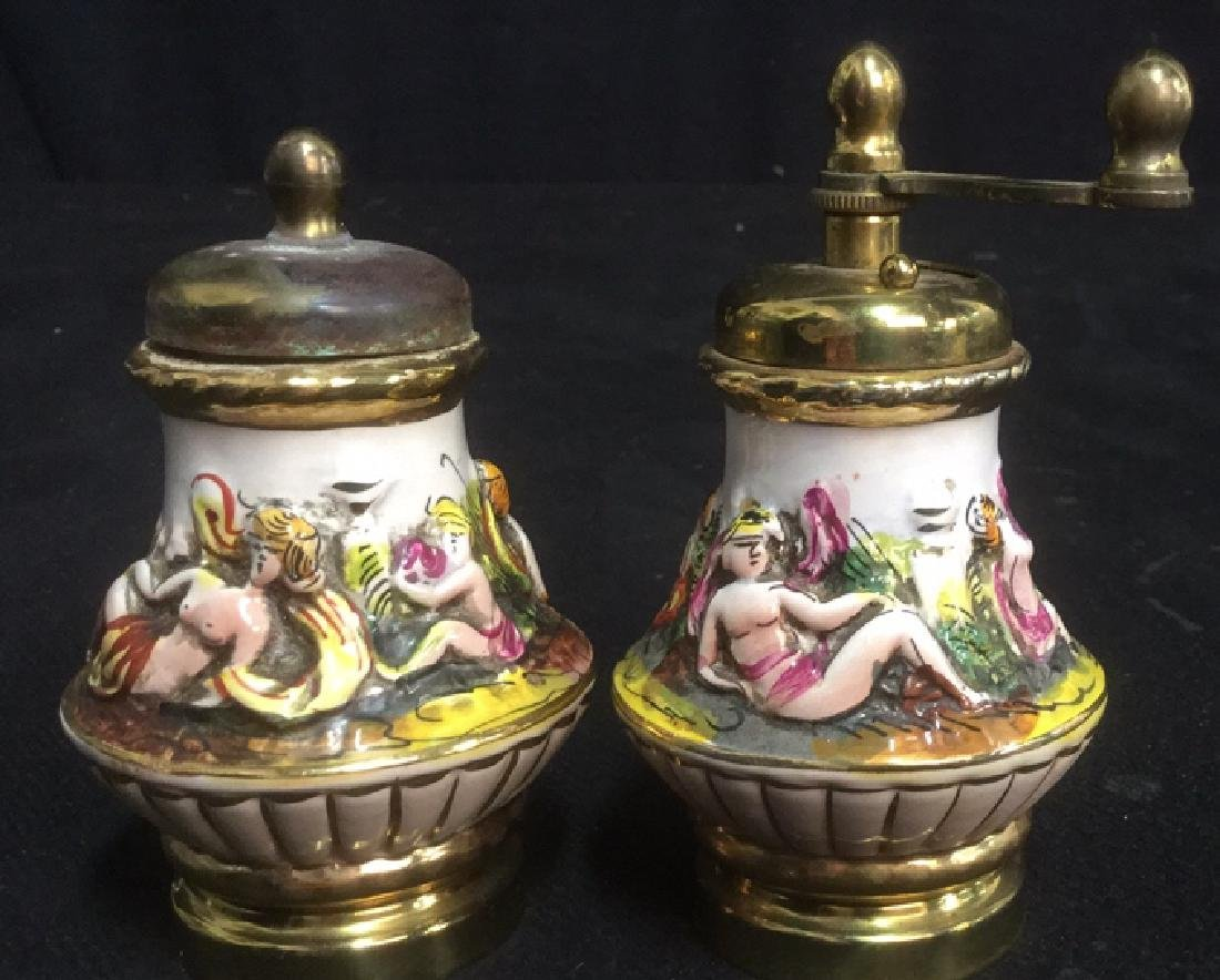 Group 3 Vintage Italian Capodimonte Shakers - 6