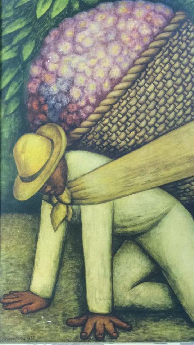 DIEGO RIVERA THE FLOWER CARRIER Framed Print - 4