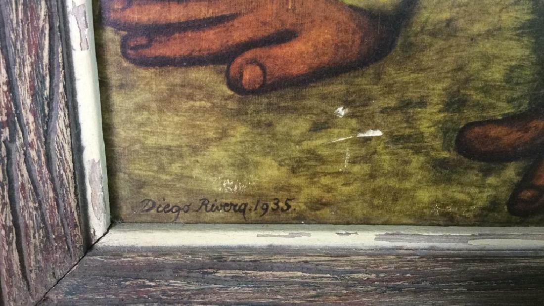DIEGO RIVERA THE FLOWER CARRIER Framed Print - 8